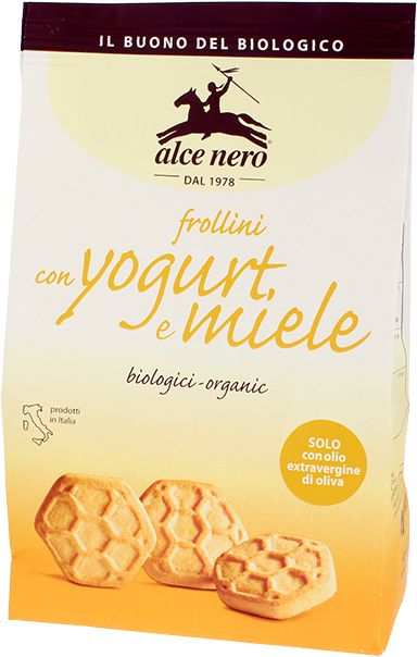 Alce Nero- Organic Frollini with Yogurt and Honey (350 gr)
