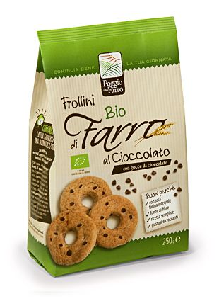 Poggio del Farro- SPELT BISCUITS BIO with chocolate chips
