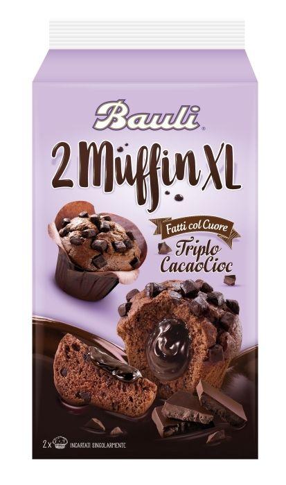 Bauli- 2 Muffin XL Triplo CacaoCioc